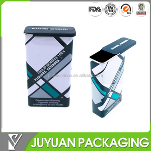 mints sliding tin box /rectangular metal tin packaging/thin container