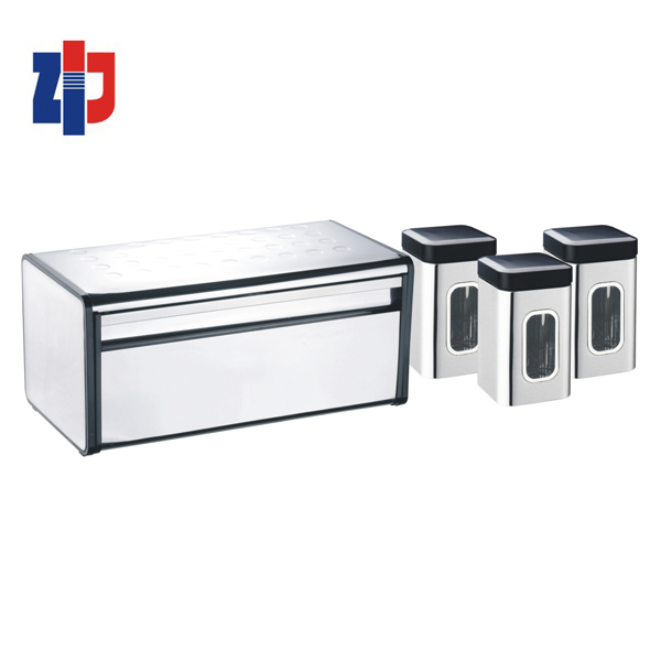 Rvs keuken collectie brood bin en bus set