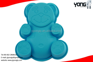 Funny bear shapes silicone baking moulds
