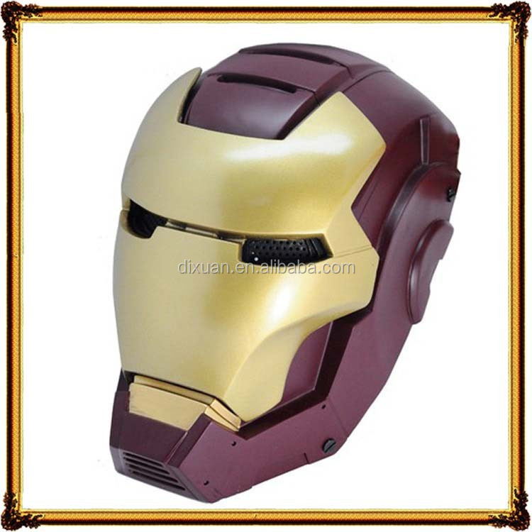 Halloween costume party frp máscara de iron man 2 máscaras de malla de alambre