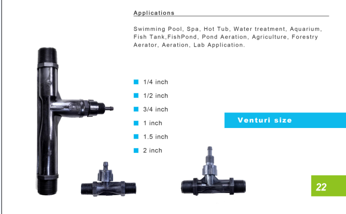 3 4 inch pvdf plastic injector valve ozone venturi to mix for Koi pond venturi