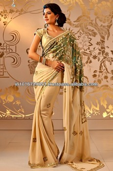 Designer Indian Crystal Wedding Saree 2016 2017