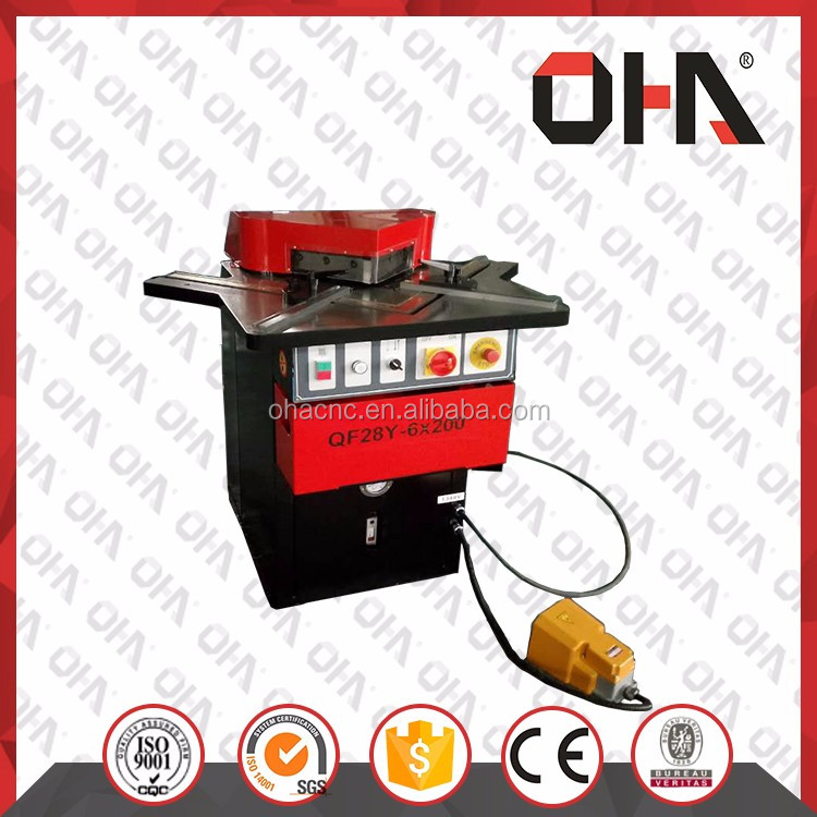 China suppliers OHA 28Y-6x200 hydraulic fixed angle corner notching machine from machine