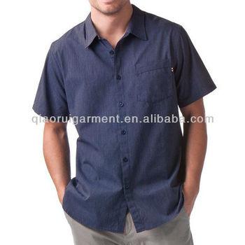 Korte Mouw Overhemd Mannen.Mannen Korte Mouw Donkerblauw Linnen Overhemd Buy Heren Korte Mouw