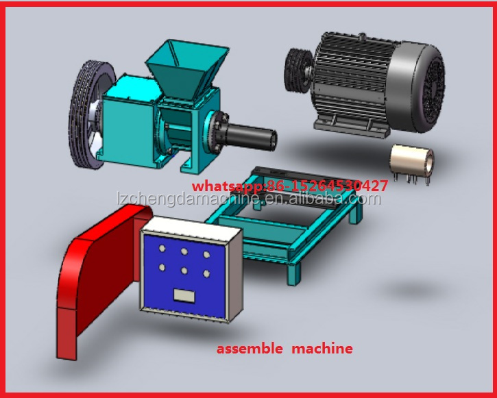 saw dust biomass rice husk briquette pressing machine