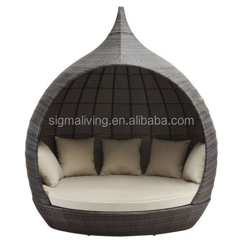 New arrival modernl beach all-weather wicker round daybed