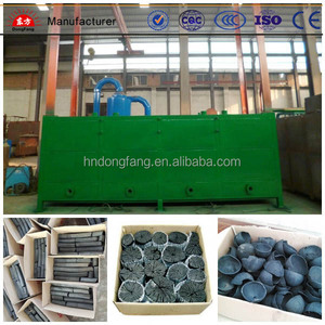Half finished wood charcoal continuous cubic carbonization stove