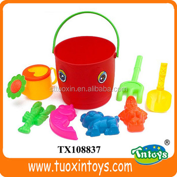 Plastic Small Kids Beach Buckets And Pails