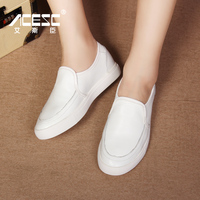 White Spring Or Autumn Flat Shoes Women Casual