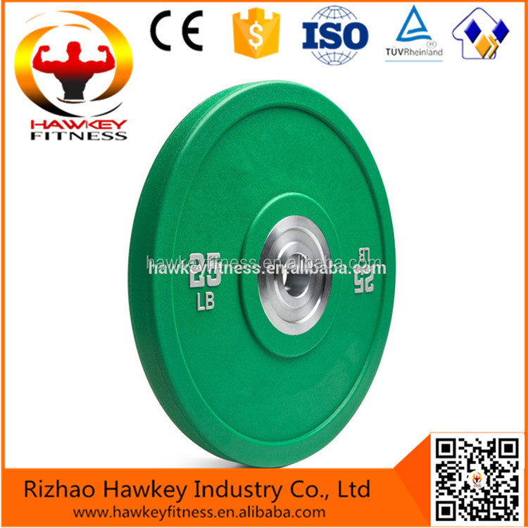 Custom logo Rogue Quality Barbell Weight Lifting Urethane Bumper Plates