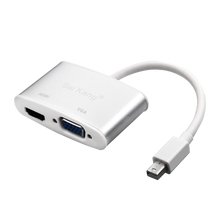 2 in 1 Konverter Mini DisplayPort zu HDMI VGA adapter mini <span class=keywords><strong>dp</strong></span> zum hdmi vga ADAPTER