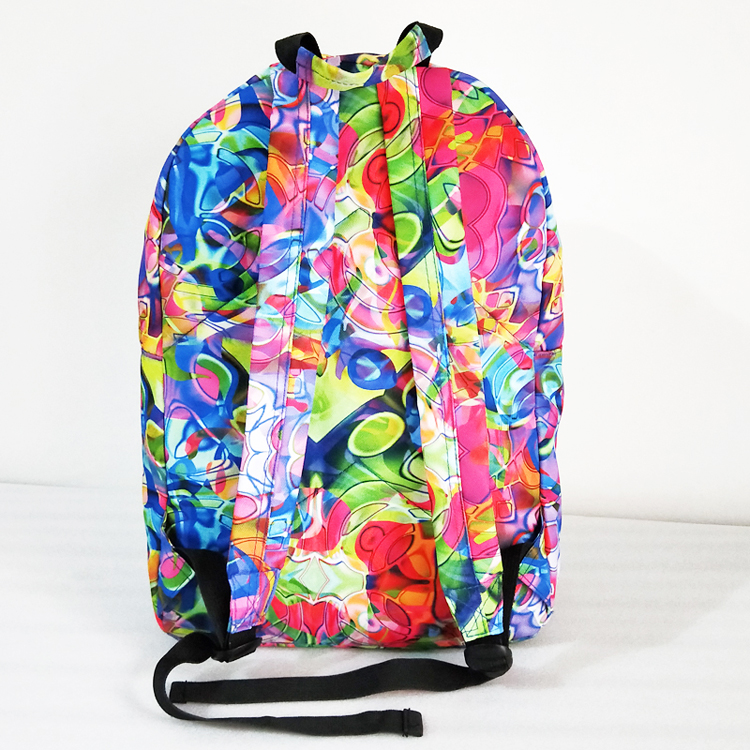 2019 New style colorful college Student backpack Waterproof Multifunctional  Laptop multicolour Backpack for children