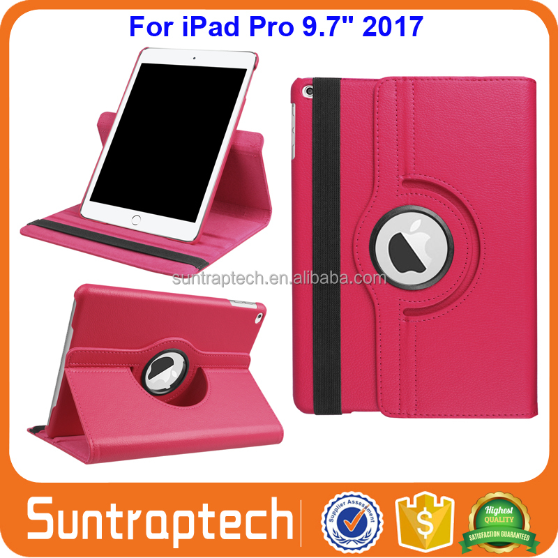 360 Degree Rotating Magnetic Leather Case Stand Smart Cover with Auto Sleep Wake function For <strong>iPad</strong> Pro 9.7 2017 IP972017C03