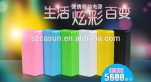 Factory supply mobile charger 5200mah universal gift power bank