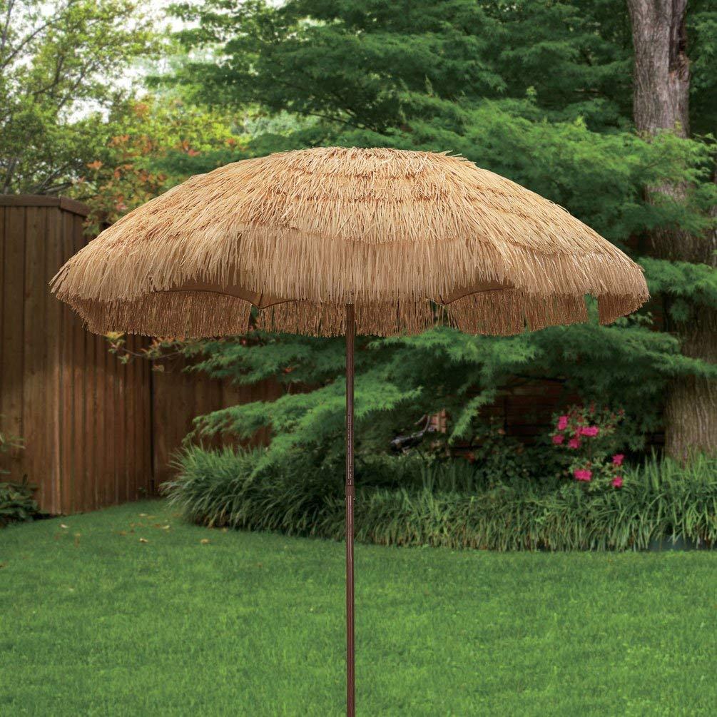 Get Quotations Bayside 21 Tiki Umbrella Thatch Patio 6 5 Ft Hula Beach Sunshade With Press