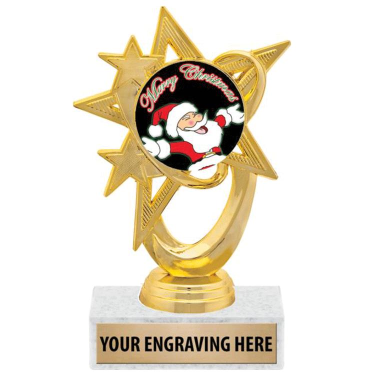 Uso di Souvenir Di Natale Personalizzata In Metallo SantaClaus commercio all'ingrosso trofeo