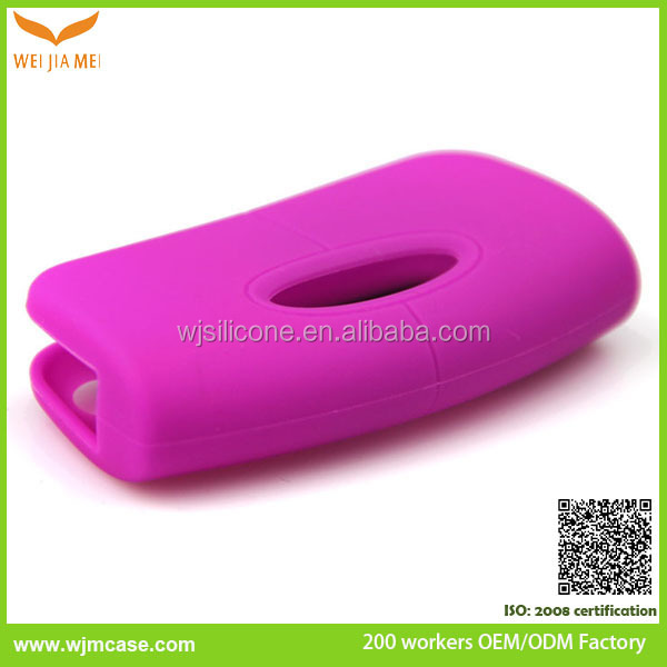 Colorful car key silicone case, key case silicone cover