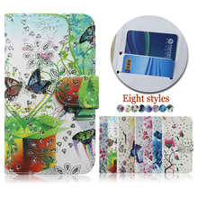 Wholesale color printing crystal diamond case cover for Allview P6 energy lite , flip leather case for Allview P6 energy lite