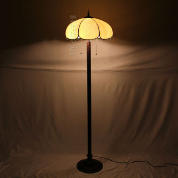"18"" tiffany style floor lamp with material of stained glass for gifts 18S7-1F5C"