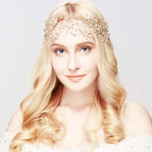 Wholesale new product handmade luxury crystal wedding hair accessories headband bridal bridal headpiece with headwear