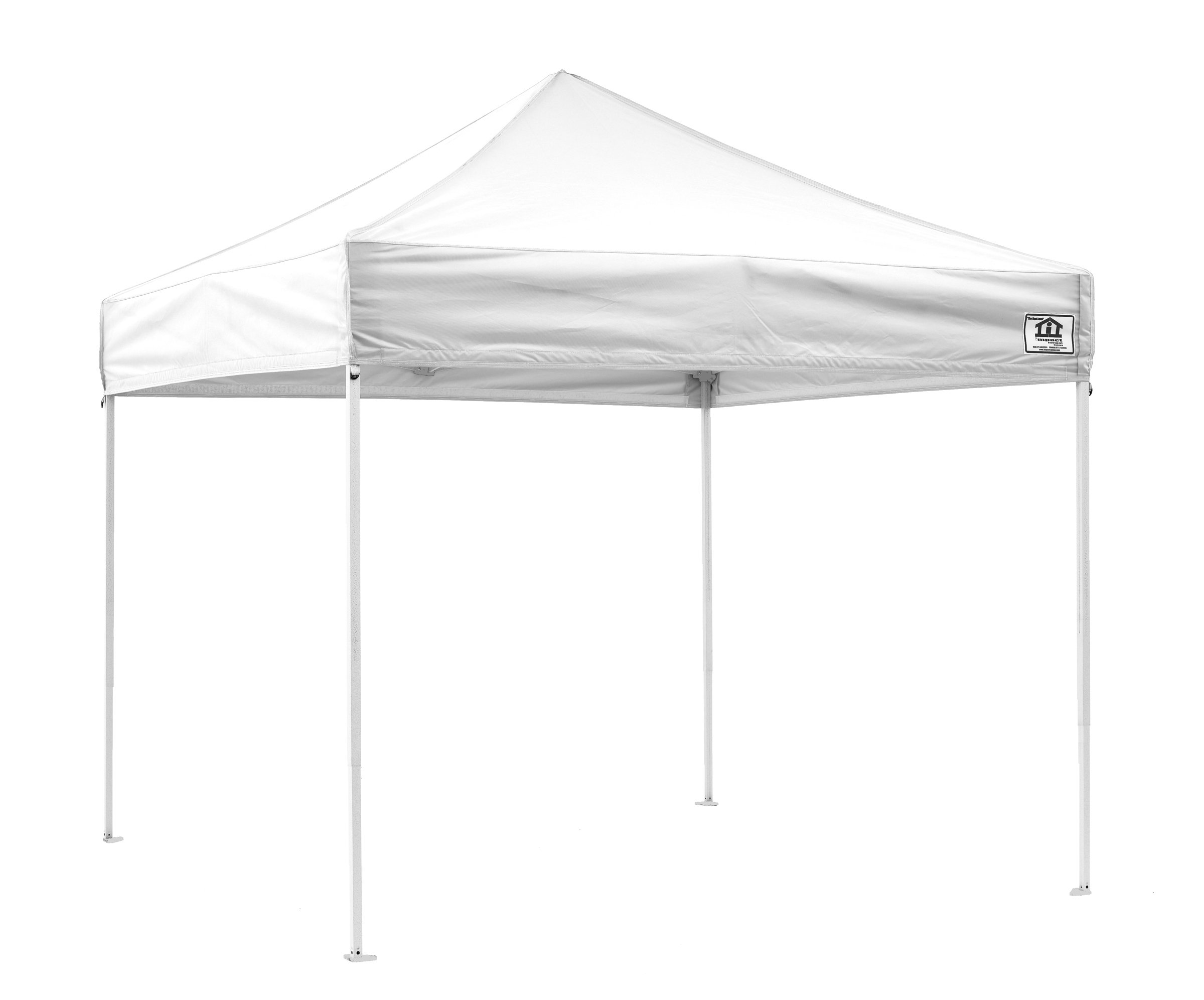 Impact Canopy 10x10 EZ Pop Up Canopy Tent Portable Canopy with Roller Bag (Choose Color)