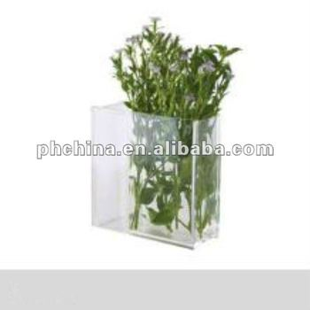 An-361 Square Shaped Acrylic/plexiglass/perspex/lucite Flower/rose ...
