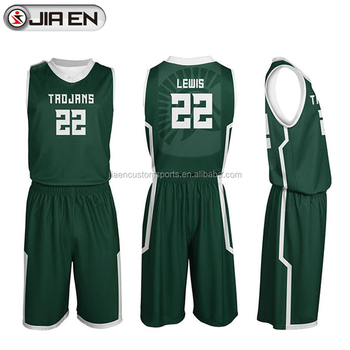 61a7e096435 Basketball jersey design latest design color green sublimation basketball  jersey