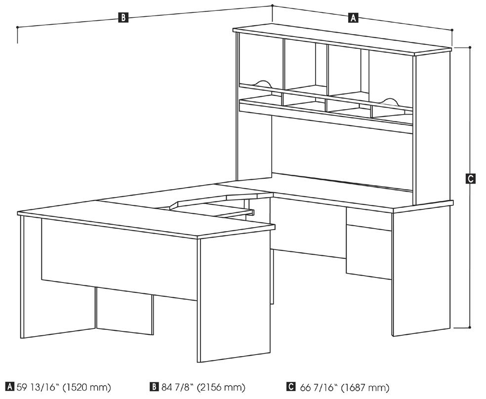 Escritorio de oficina teca roble medidas escritorio de la for Medidas estandar de escritorios de oficina