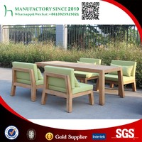 Rectangular teak dining table and 4 teak chairs garden patio set