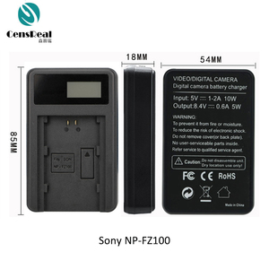 LCD Screen Ultrathin Camera Battery Charger USB Charger with CE, RoHS, FCC