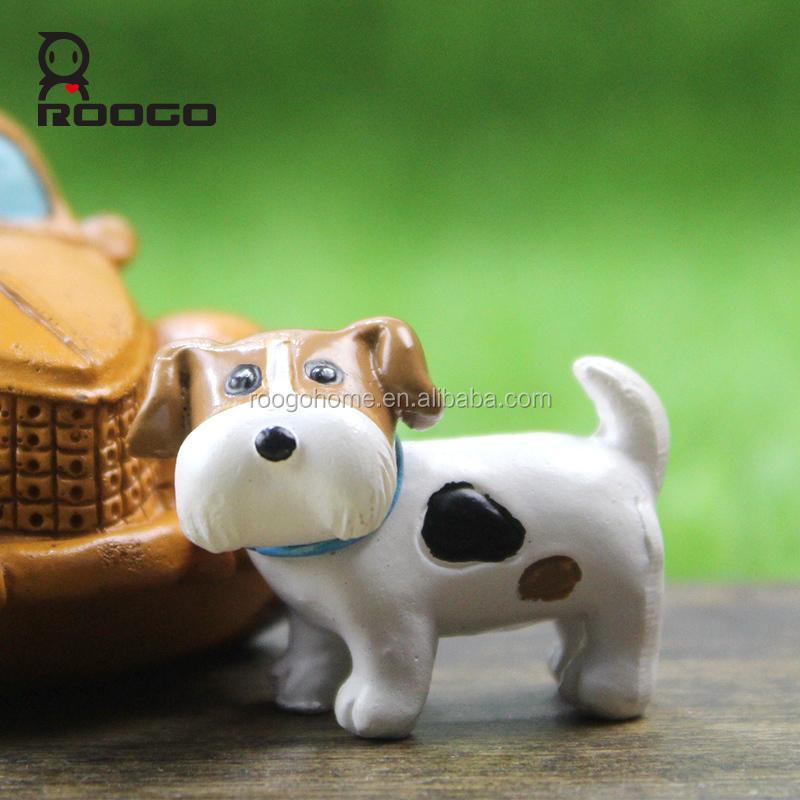 roogo miniatura jardn beb recin nacido ropa escocia bull terrier resina ornamento casa