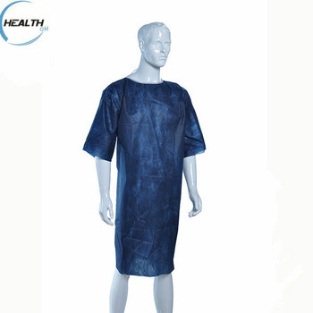 Disposable Medical Non Woven Patient Gown Without Sleeves - Buy ...