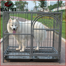 Baiyi Hot Sale Stainless Steel Dog Outdoor Dog House With Aluminum Dog Exercise Pen