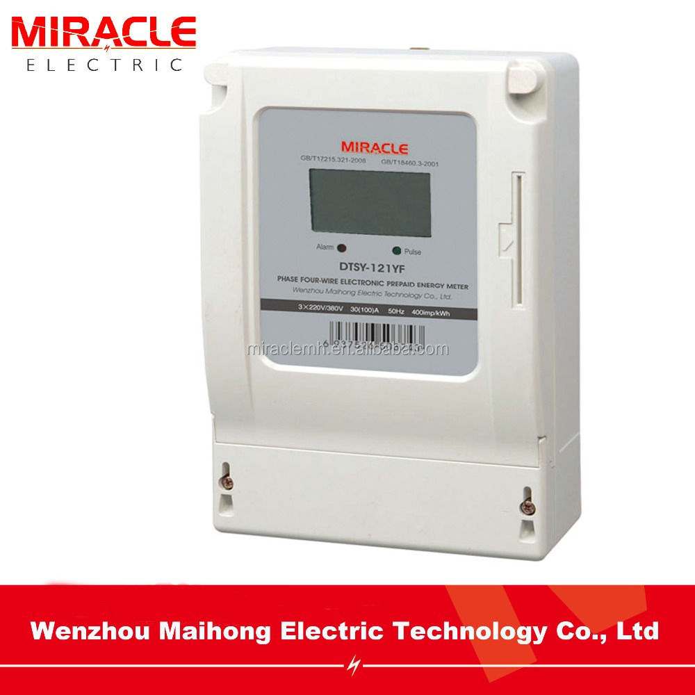 China Supplier 3 Phase Electric Prepaid Meter