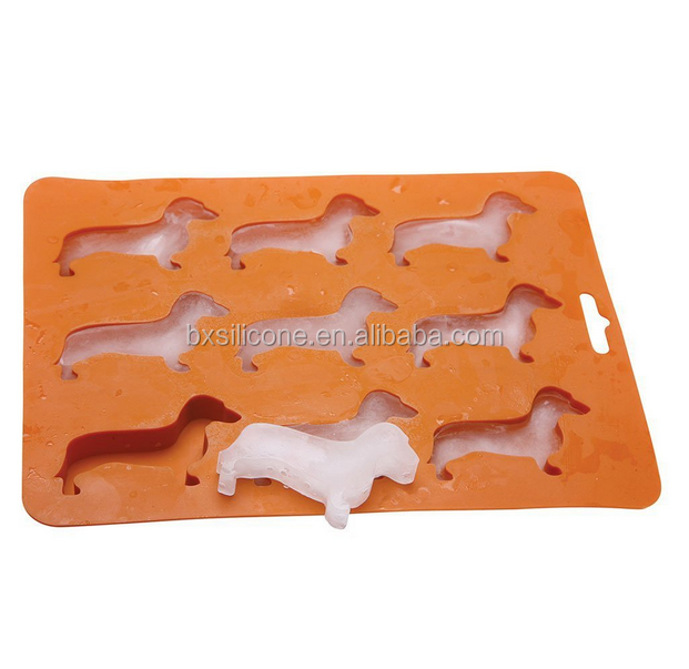 Custom Personalized Novelty Food Grade Silicone Animal Shape Silicone Ice Cube Tray
