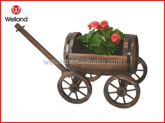 Legno carriola fioriera da giardino patio fiore piantare for Fioriera carriola