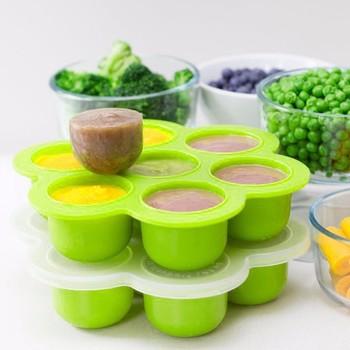 Bpa Free Eco friendly Silicone Baby Ice Freezer Tray Food Storage
