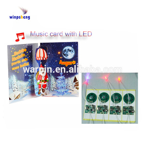 Led flash music ic chip, sound ic chips for cards