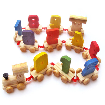 funny children toy wooden train set model train
