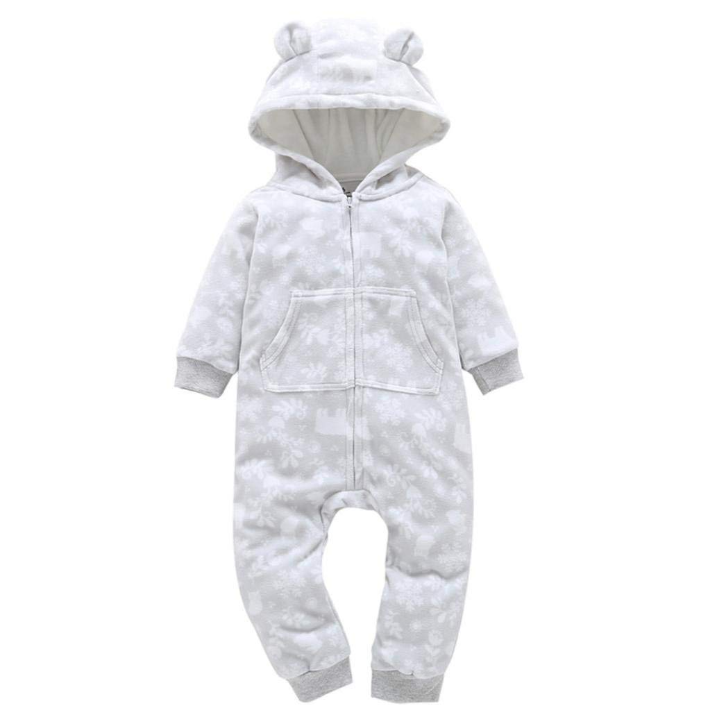82e477e9f2a5 Get Quotations · Toddler Autumn Winter Overalls Infant Baby Boy Girl Zipper  Thicker Snowsuit Hooded Jumpsuit Outwear Clothes 6
