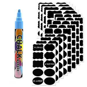With Chalk Marker Reusable Dry Erase Blackboard Sticker Adhesive Blackboard Vinyl PVC Chalkboard Labels