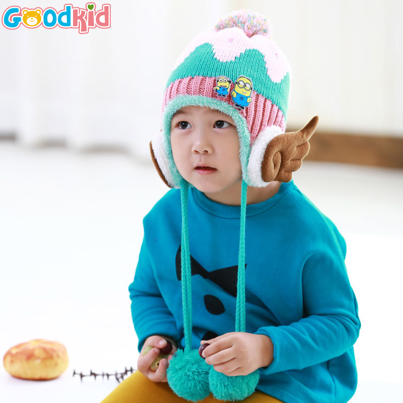 2015 Unisex Novelty Character Special Offer Time-limited Hats For Knitted Hat Children Winter Wings Small Man Hats And Bonnets