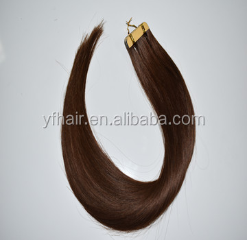 Superior Quality Wholesale Factory Price Skin Weft Virgin Remy Tape Hair Extension I Tip hair , Invisible Indian Remy Tape Hair