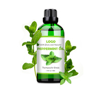 GMPC Factory Certified Organic Peppermint Essential Oil 50ml,100% Pure, Undiluted and Therapeutic Grade Private Label
