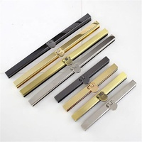 Meetee F1-74 11.5cm 19cm Diy Metal Purse Frame Handle Bronze Gun Black Silver Gold For Wallet Bag Sewing