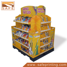 School <span class=keywords><strong>Dingen</strong></span> Stationaire Product Vloer Pallet Display Stand