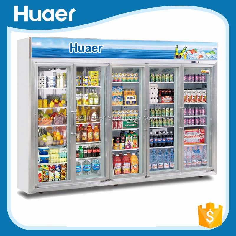 Valuable price Fan cooling vertical freezer 0~10 degree display showcase Soft drink refrigerator with doors