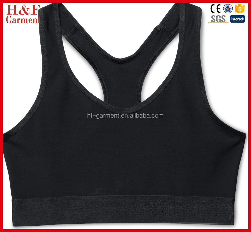 Custom made fashionable sports bra cross back strip sports bra women