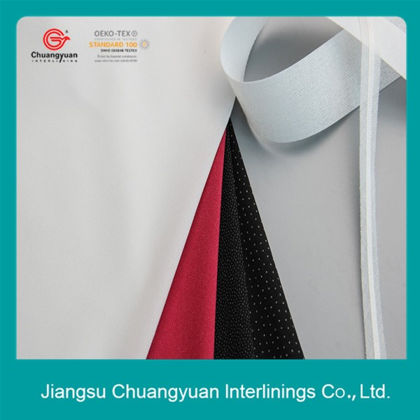 High quality shirt collar interlining fusible buckram cotton