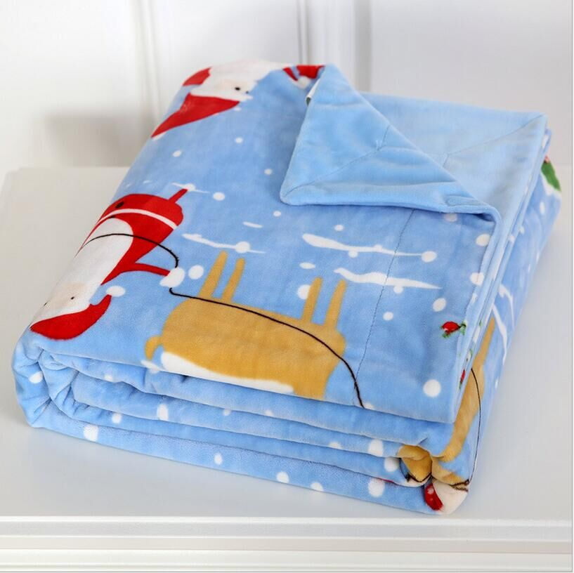 Wholesale 100%Polyester Printed Polar Fleece Baby flannel mink Blanket